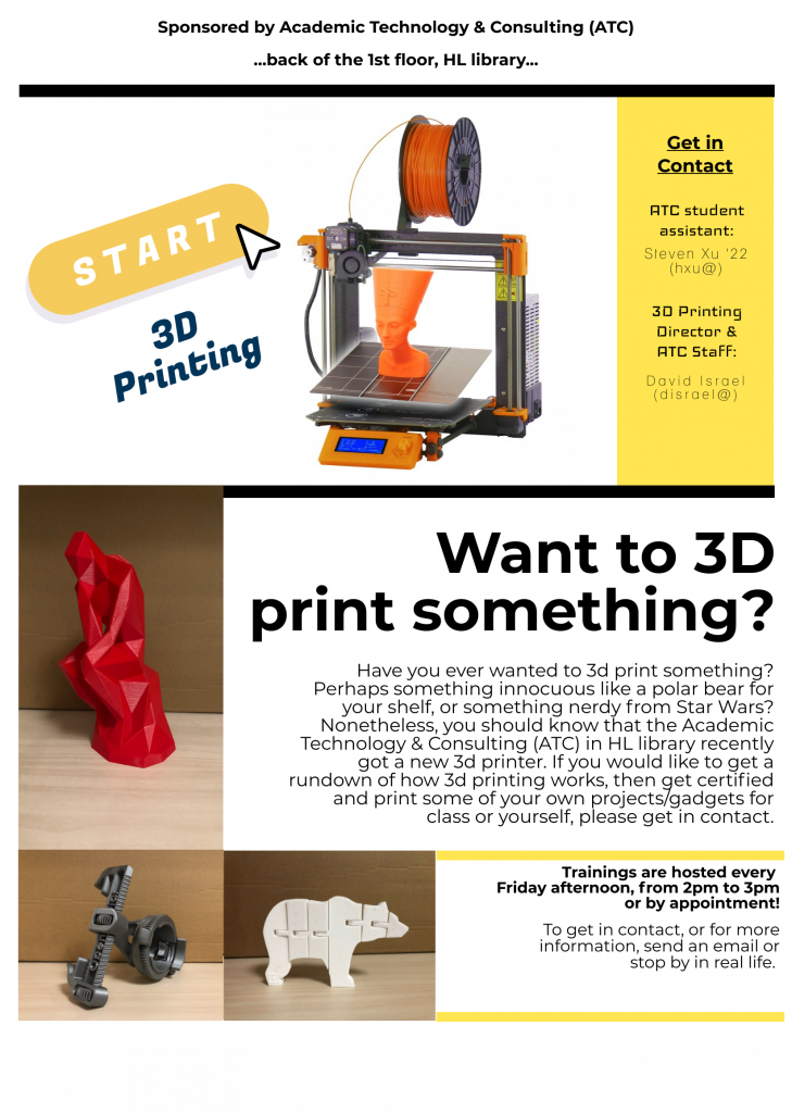 3d-printing at Bowdoin College