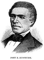 Bowdoin's first African American graduate (class of 1826), after whom the John Brown Russwurm Afro-American Center is named, was among the nation's first three African Americans to graduate from institutions of higher education. In 1827, Russwurm went on to found the Freedom's Journal, the country's first black newspaper. He later became Mayor of the Maryland section of Liberia, a colony in Africa for freed slaves.