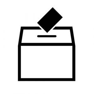 simple ballot box drawing