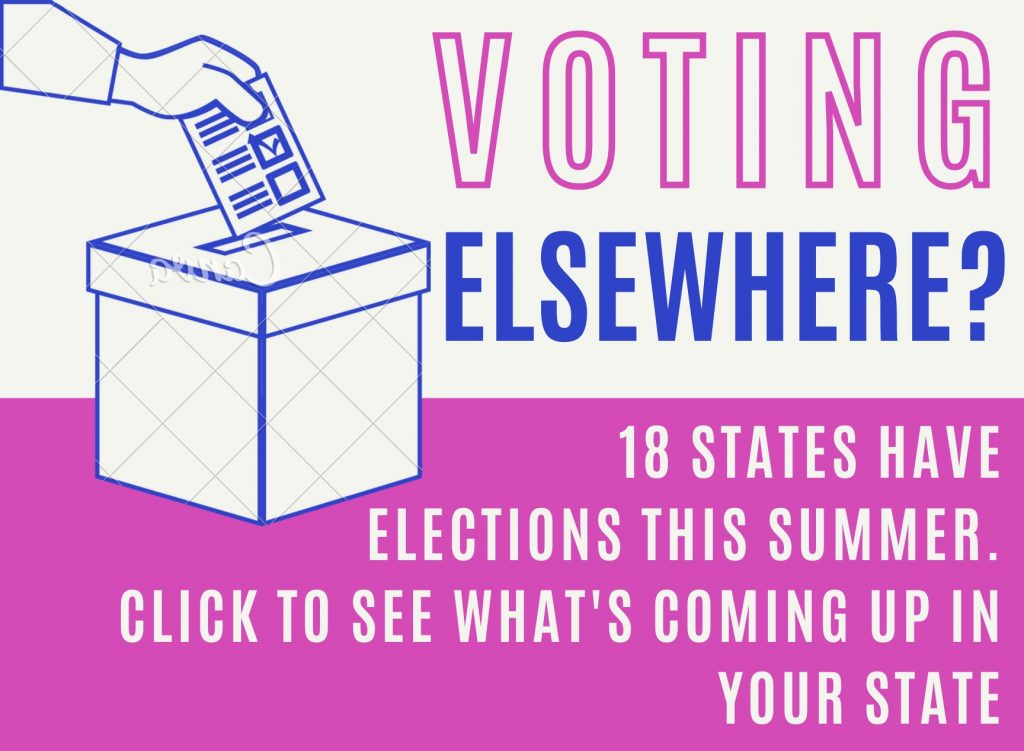 Voting Elsewhere? Click for  Your State's Summer Election Info