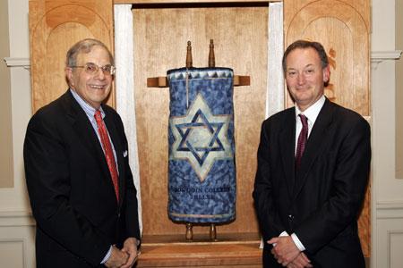 President Mills with Joel Sherman '61.
