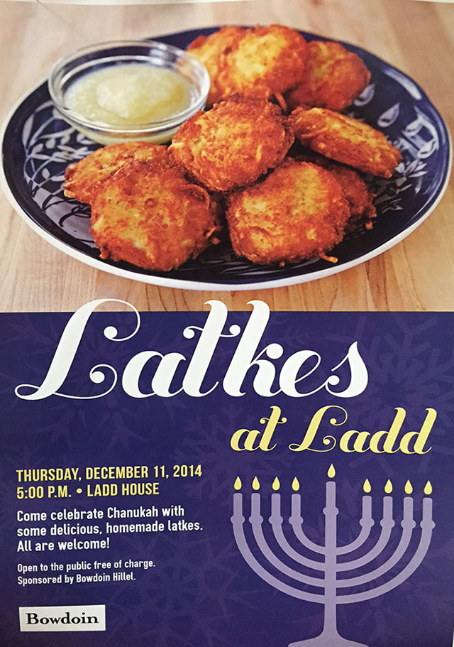 Latkes at Ladd 2014